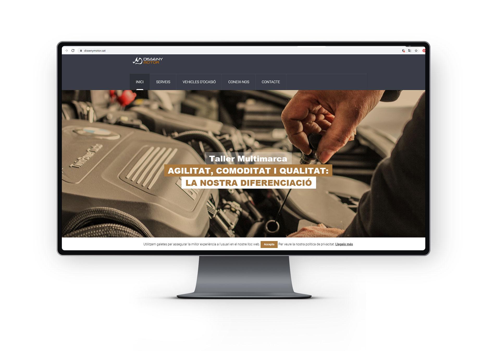 Web Disseny Motor Olot